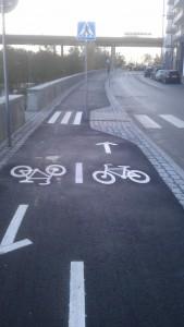 Cykelbana vid Hornstulls strand