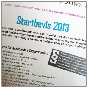 Startbevis