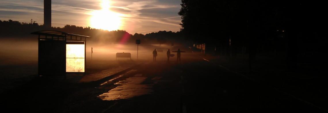 Soluppgång bakom Kaknästornet