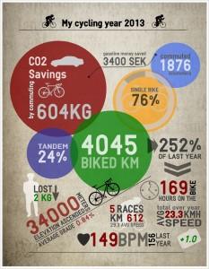 Mitt cykelår 2013 - infographics