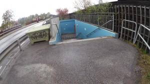 Cykelbana slutar i trapp