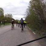 Rullar ut ur Uppsala med startgruppen