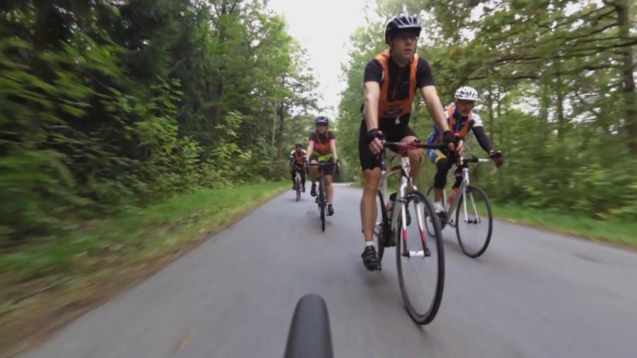 Ett gäng cyklister