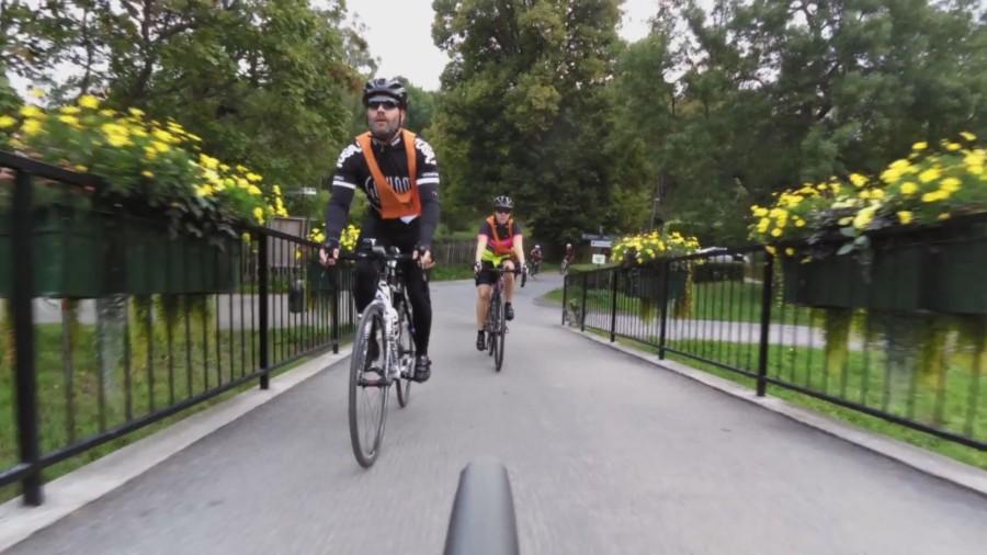 Patrick och Patrizia på väg över till Djurgården