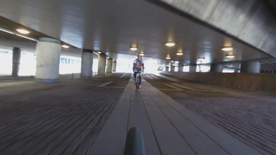 Stadskörning innebär en del tunnlar