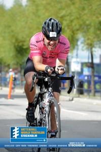 Patrick på cykel